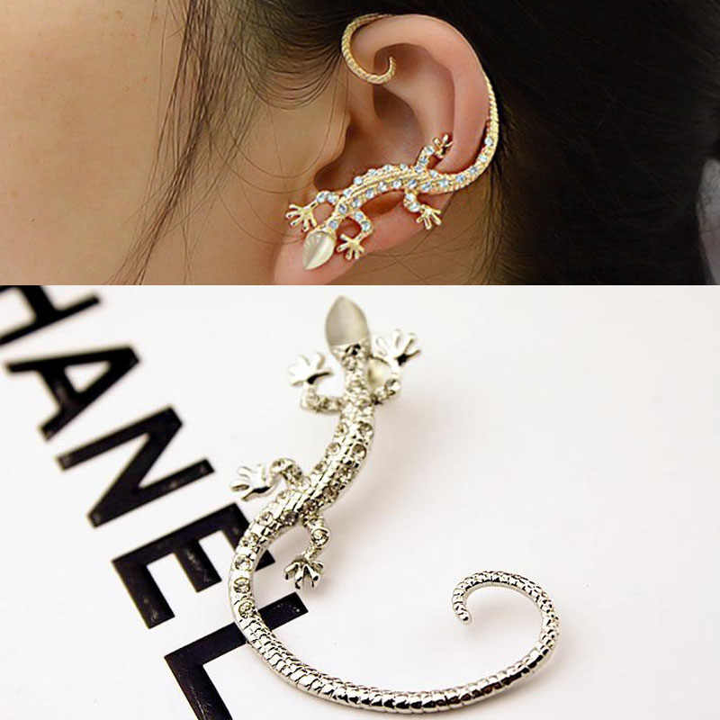 LNRRABC Hot 1 Pc Women Girl Elegant Charming Exaggerated Lizard Design Ear Cuff Earrings Jewelry Gift