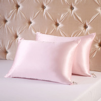 16m M Hide Zipper Style Double Face Silk Pillowcase Satin Pillow Cover 100 Pure Mulberry Silk