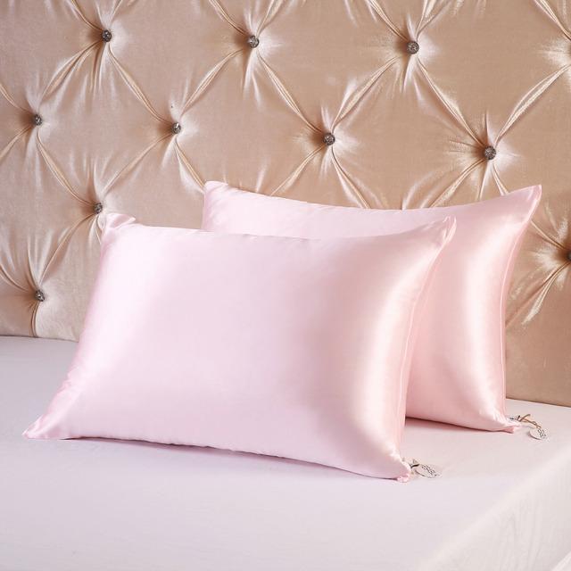 16m/m  Hide Zipper style Double Face Silk Pillowcase Satin Pillow Cover 100% pure mulberry Silk pillow case