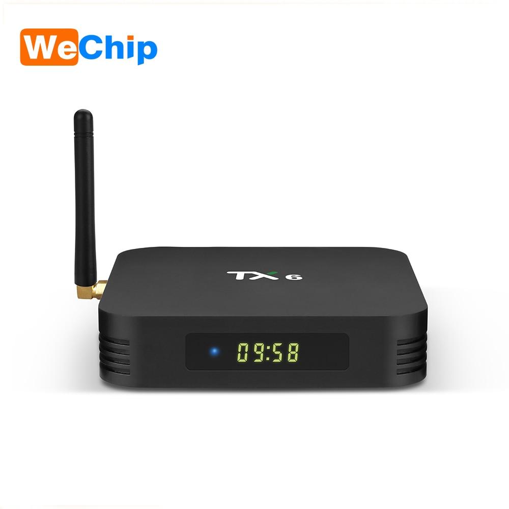 Wechip TX6 Android 9.0 TV BOX 4G 32G Allwinner H6 Quad core 2,4G + 5G Dual Wifi BT 4,1 4 K TV BOX HD H.265 Youtube Set Top Box