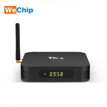 Wechip tx6 안드로이드 9.0 tv 박스 4g 32g/64g allwinner h6 쿼드 코어 2.4g + 5g 듀얼 와이파이 bt 4.1 4 k tv 박스 hd h.265 youtube 셋톱 박스