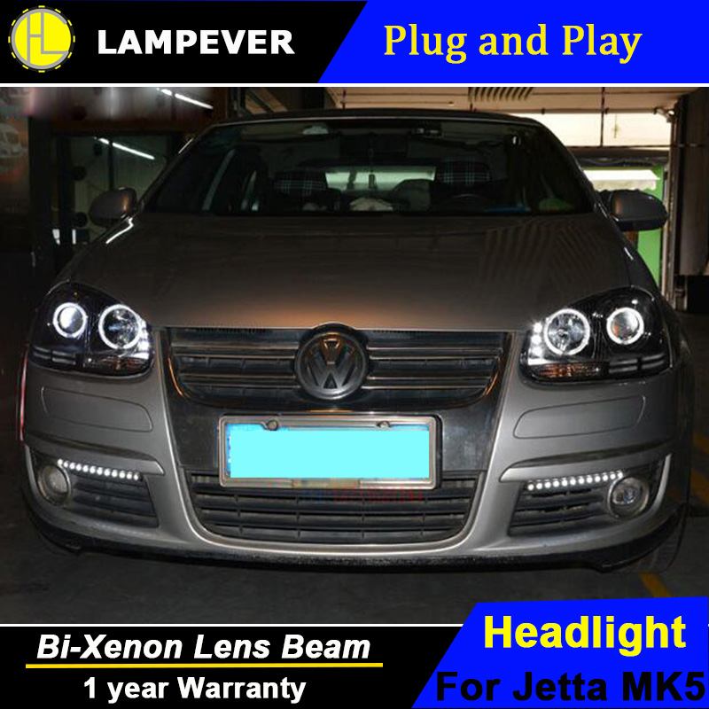 Lampever Styling For Vw Jetta Headlights 2006 2010 Mk5 Led Headlight Drl Bi Xenon Lens High Low Beam Parking In Car Light Embly From