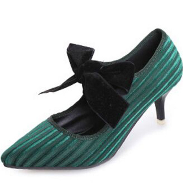 2018 Spring and Summer New Korean Wild Pointed Stiletto Heels Princess Bow  Light mouth shoes Retro Suede shoes-in Women s Pumps from Shoes on  Aliexpress.com ... 320c64e8a418