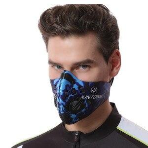 Image 4 - XINTOWN רכיבה על אופניים Windproof מסכת חורף נגד אבק הפה מופל מסכת מסכות נגד זיהום סקי הריצה פנים אופניים מסכת