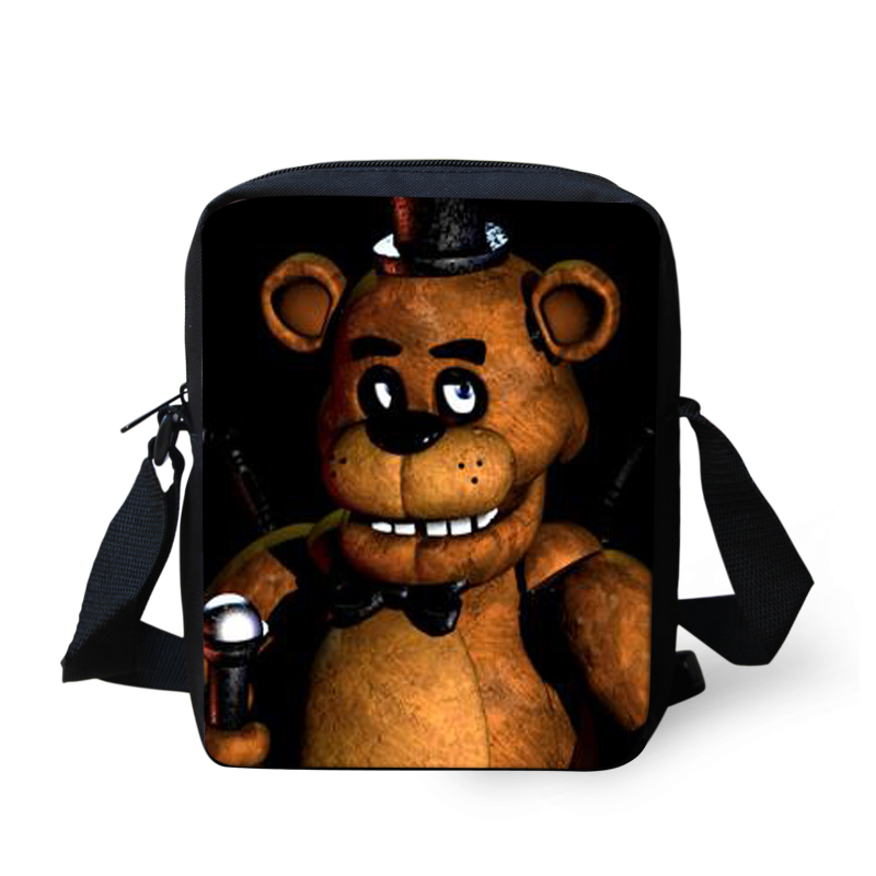 five nights at freddy's Printing Boys Messenger Bags for Children Crossbody Bags,Child Small Travel Cartoon Small Shoulder Bag