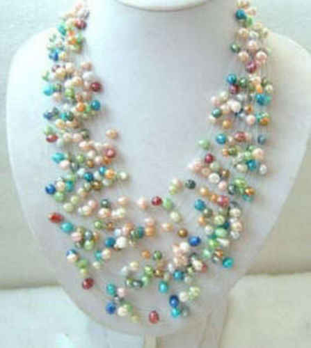Wonderful Multicolor Cultured Freshwater Pearl Necklace