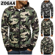 ZOGAA Mens Camouflage Casual Hoodies For Men Spring And Autumn 2018 Clothes Classic Zipper Jackets