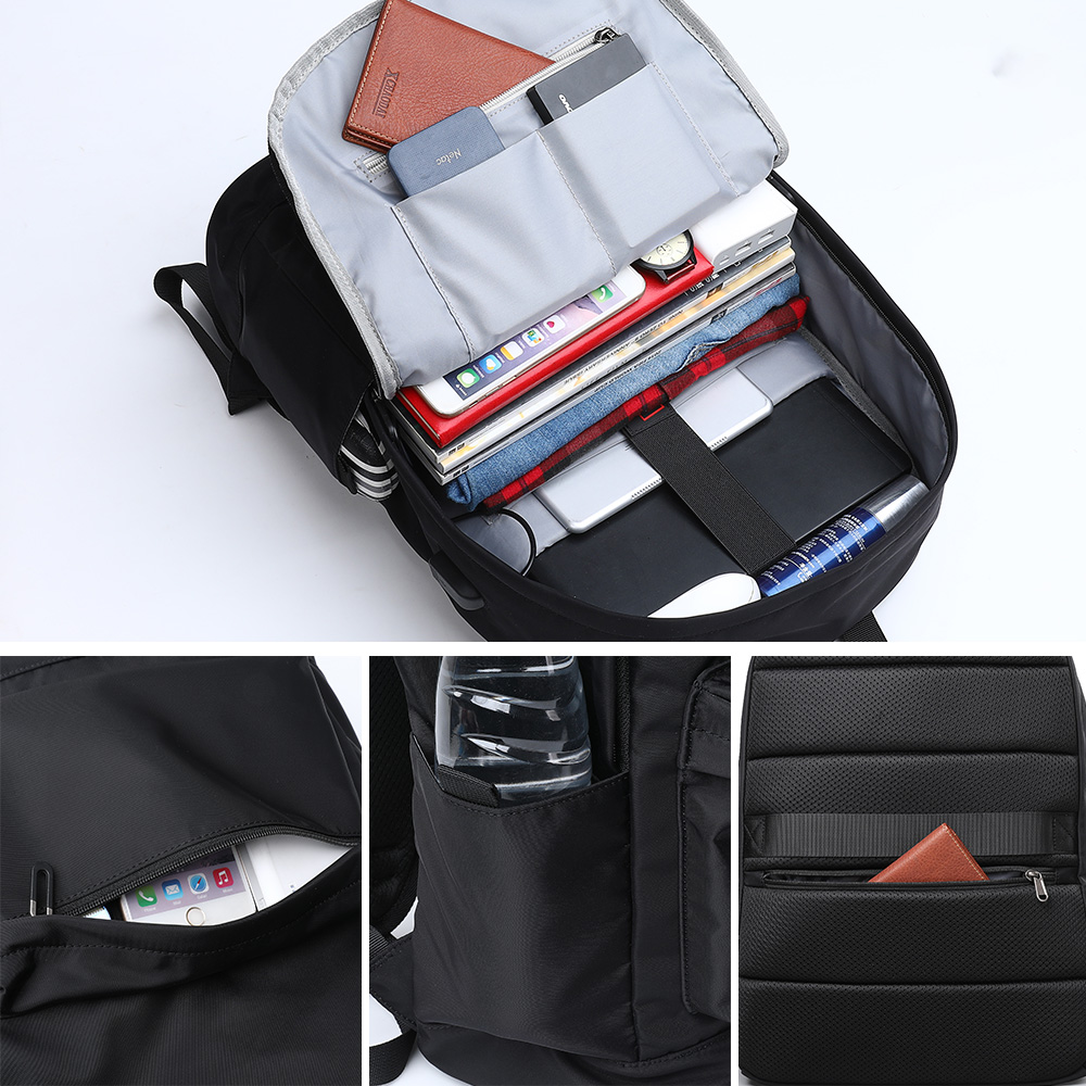 ZZINNA Fashion Summer Simple Backpack for Men Male Sumka External USB Charge Water Resistant Fabric Bag for Laptop 15 6 inch in Backpacks from Luggage Bags