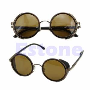 62581aa01db Goggles Round Glasses Classic Steampunk Sunglasses Retro