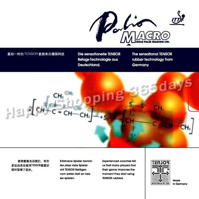 Original Palio MACRO Tensor pips-in table tennis   pingpong rubber with  sponge 9fce062644b81