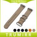 Nylon Watchband with Adapters for Samsung Gear S2 SM-R720 / R730 Watch Band Zulu Fabric Strap Wrist Belt Bracelet Black Brown