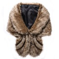 New Winter Luxury Elegant Faux Fur Coat /Vest Fashion Women Warm Large Jacket Shawl Thick Imitated Fur Thicken Female For Ladies