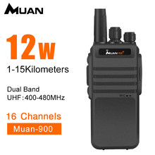 Muan Walkie Talkie M-900 Professional Two Way Radio 10KM UHF 400-480MHZ Portable CB Radio Walkie-Talkie 12W(China)