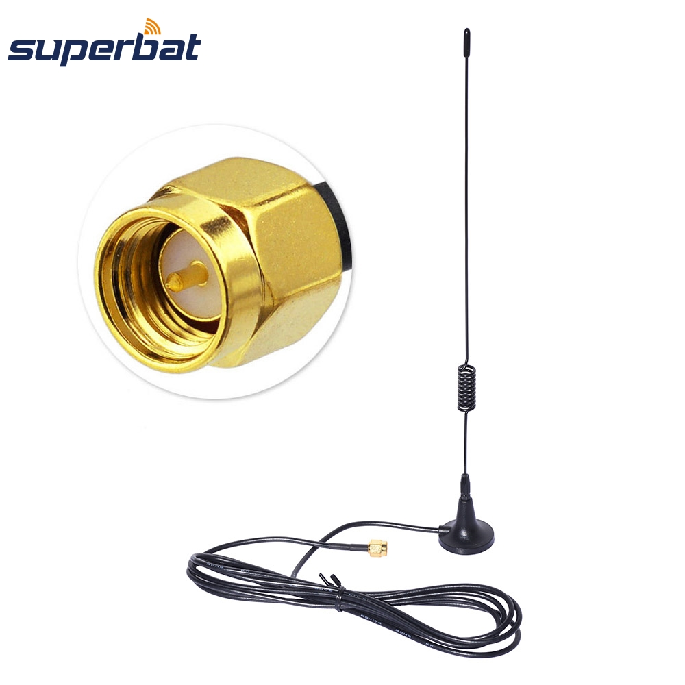 Superbat 4G LTE 7dBi Booster 700-2600MHZ Antenna Aerial 50 Ohm Strong Magnetic Base SMA Male Plug Connector RG174 Cable