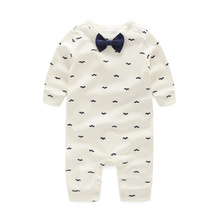 Baby Rompers Spring Autumn Active Full Sleeve Baby Boy Girl Clothes Print Beard Cotton Children Clothing