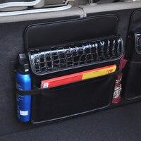 Car Back Storage bag Multifunctional Organizer Car Portable Storage Bags Black magic tape car trunk stick bag