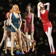 FT009 1/6 Scale Sexy Girl dress clothing set Braces skirt&Metal belt Nightclub clothing set Model for female body figure toy sgtoys s 09 1 6 scale female figure accessory woman sexy double split long skirt set with high heels