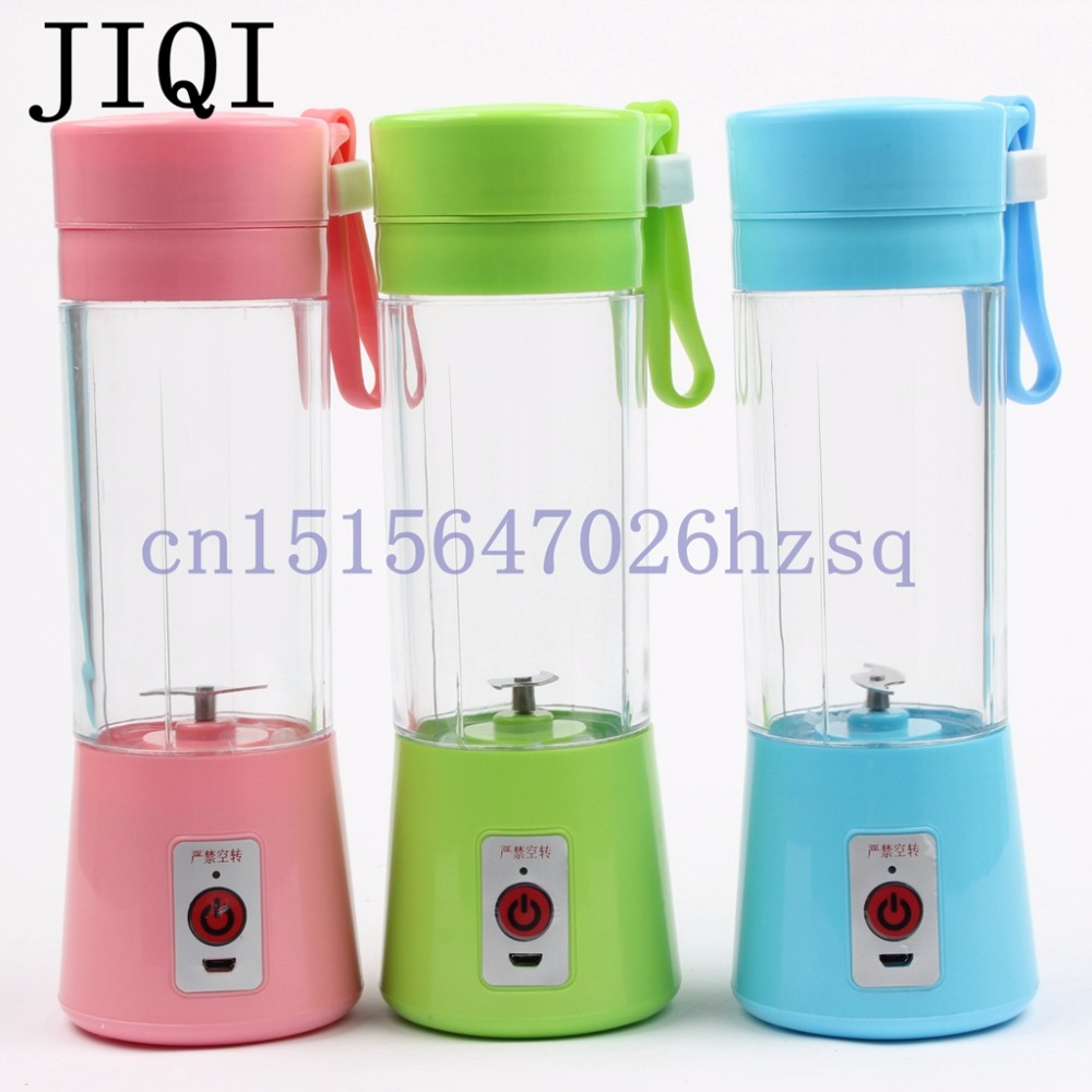 JIQI USB Rechargeable Electric Juicer Bottle Juice Citrus Blender vegetables fruit Milkshake Smoothie Squeezers USB Slow Juicer