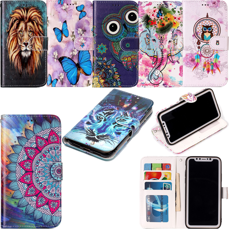Varnish <font><b>3D</b></font> Relief Flip Leather Wallet Phone Silicone Soft Case Cover Shell Coque Fundas for <font><b>xiaomi</b></font> <font><b>Redmi</b></font> <font><b>4X</b></font> 5 Plus Note 5 Pro image