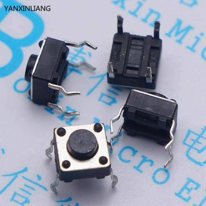 100pcs 6*6*5mm Light touch switch DIP4 ON/OFF Touch button Touch micro switch 6*6*5 keys button DIP 4pin 5pcs lot high quality 2 pin snap in on off position snap boat button switch 12v 110v 250v t1405 p0 5
