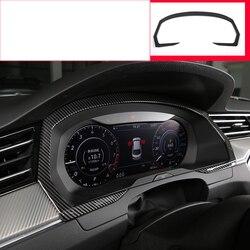 Lsrtw2017 auto in fibra di carbonio cruscotto cornice dello schermo trim decorazione per volkswagen arteon 2017 2018 2019