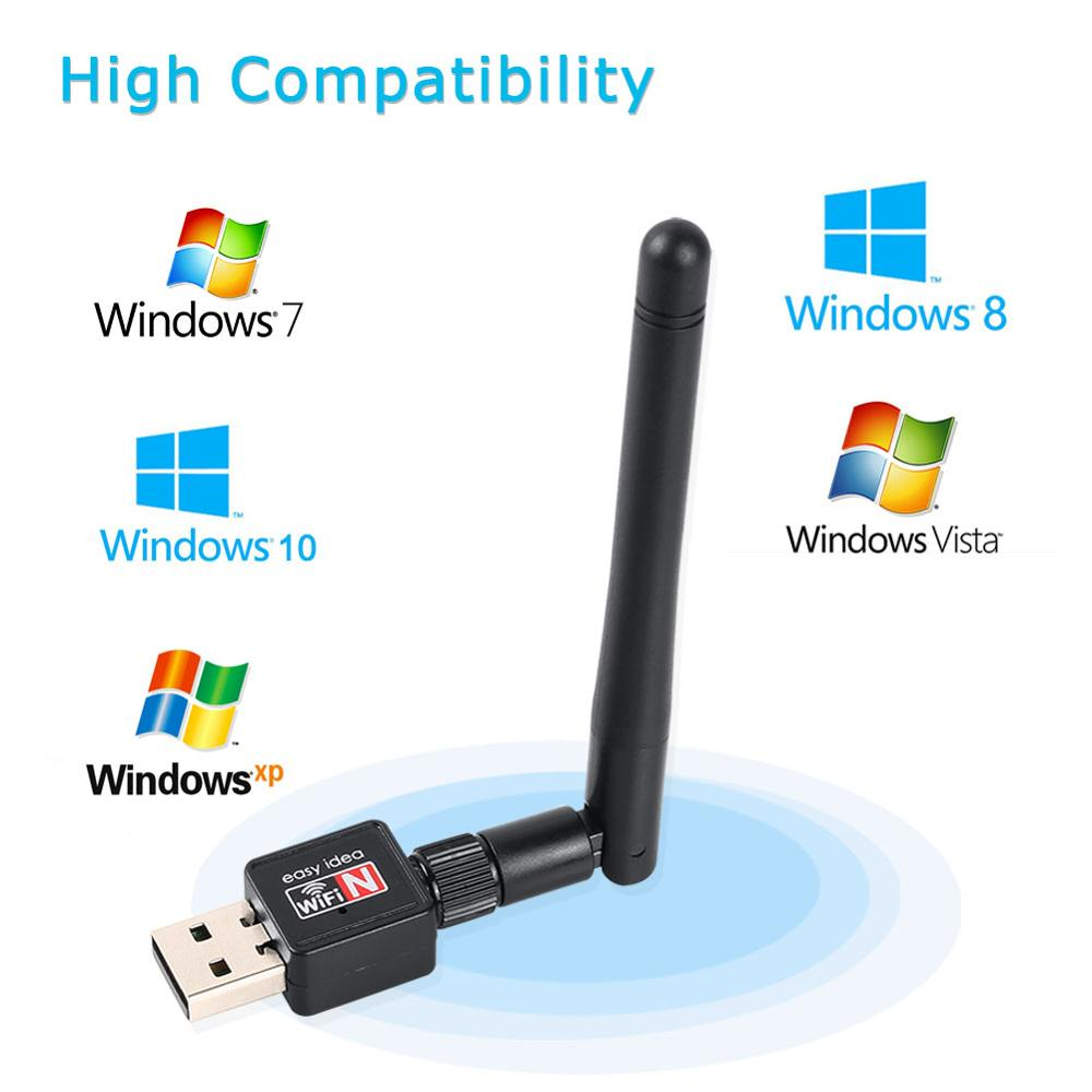 300Mbps USB WiFi Adapter Mini Dongle External Wireless LAN Network Card 5GHz 802.11n/g/b for PC Computer for Win 7 8 image