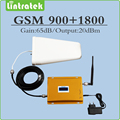 Full set Gain 65dB mobile phone signal booster GSM 900Mhz + DCS1800Mhz dual band signal repeater with Antenna and cable