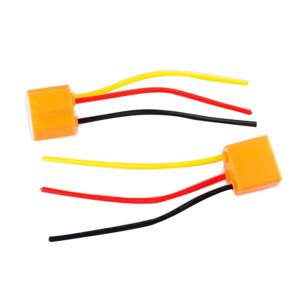 2pcs 9003 h4 h7 led ceramic wire wiring harness connector sockets bulb pigtail plug h4 h7  [ 1000 x 1000 Pixel ]