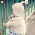 Baby Girls Cardigan Hooded Cotton Pullover Children's Girls Sweater Long Sleeve Kids Boys Knitted Wear Clothes With Tassle 1-5Y