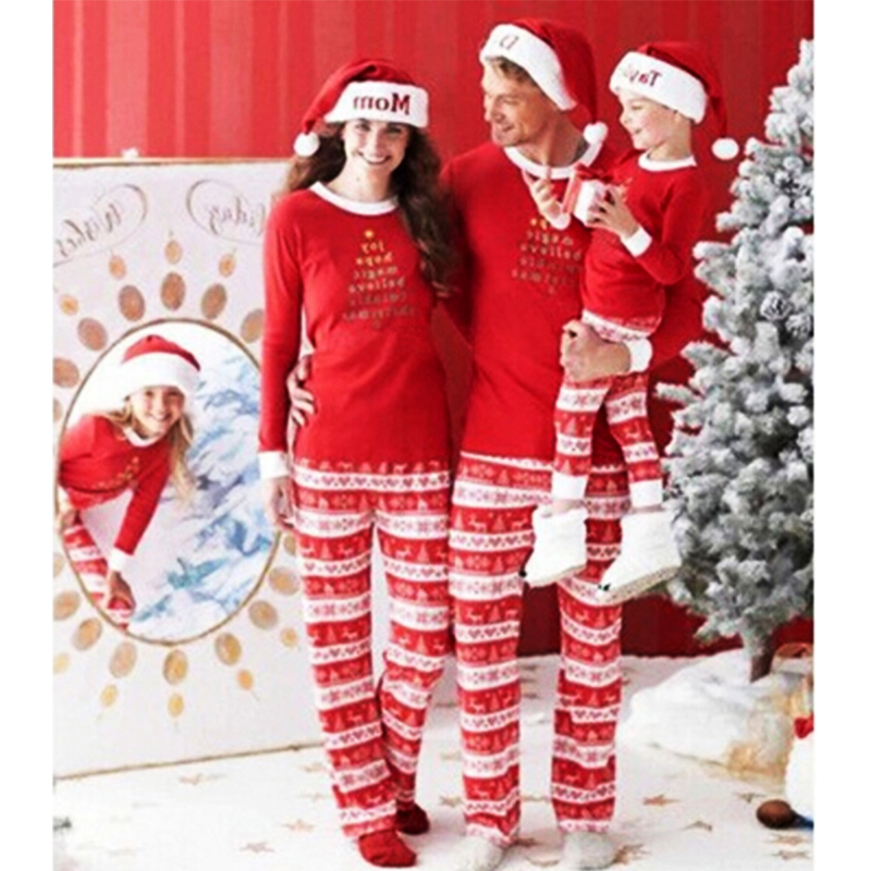 Christmas Family Clothes Sets Winter Pajamas Mother Father Kids Family Matching Outfits Clothing Set Family Look Clothing