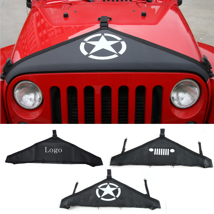 car styling Engine Cover for Jeep Wrangler 2007 2015 Canvas Hood Cover Front End Bra Protector