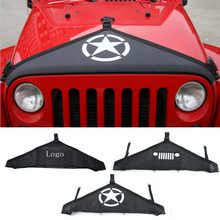 car styling Engine Cover for Jeep Wrangler 2007-2015 Canvas Hood Cover Front End Bra Protector Kit Fit Car Engine Cover