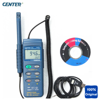 Portable Humidity Temperature Meter Triple Display PC Interface 16000 Records Datalogger CENTER 313