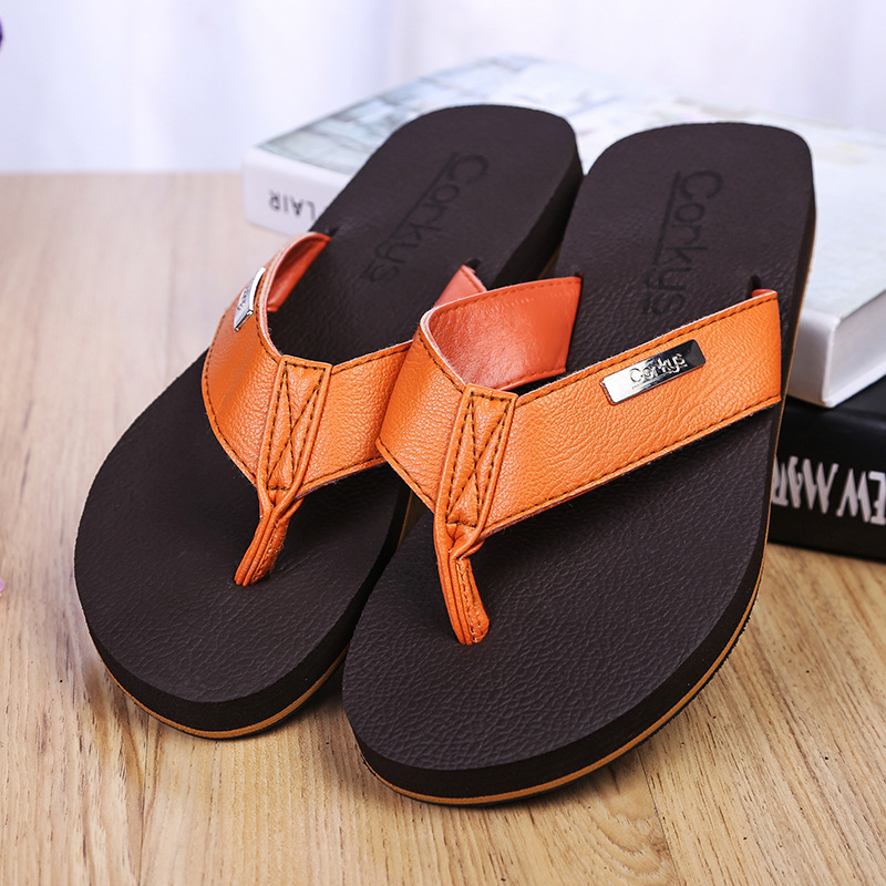The Trend Of Casual Men Sandals Summer Sandals And Slippers Non-Slip Heavy-Bottomed Simple Wild Flip Flops
