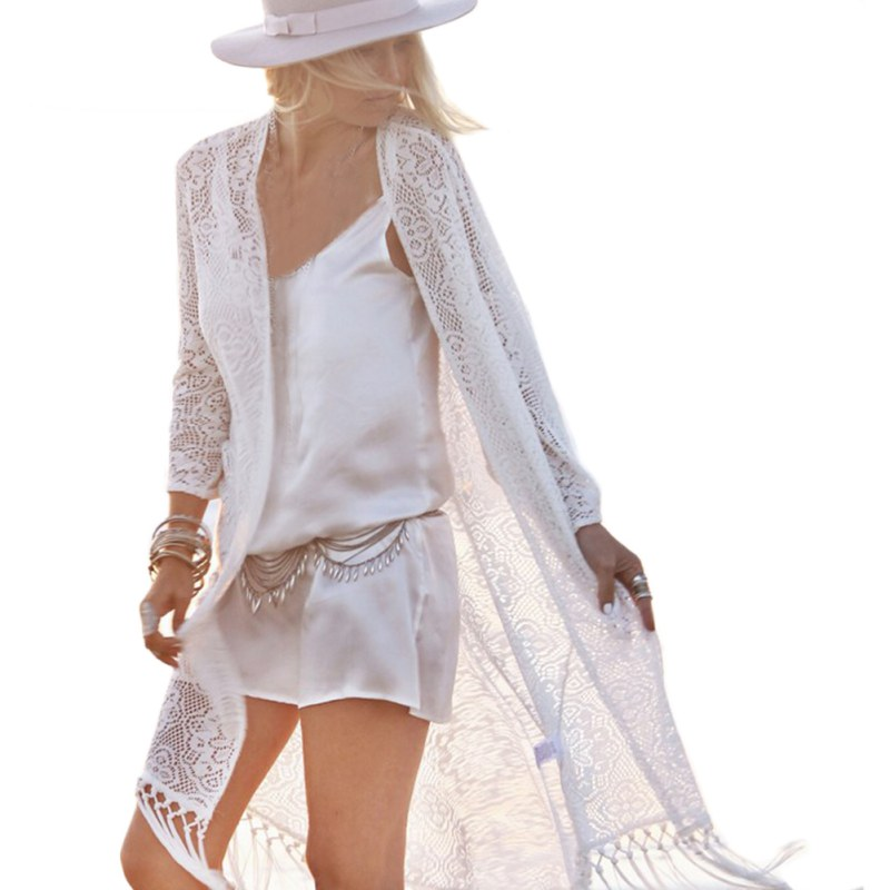 цена на Beach Cover Up Floral Bikini Swimsuit Cover Up Robe De Plage Beach Cardigan Swimwear Bathing Suit Cover Up