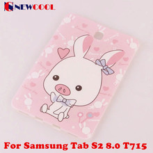 Cartoon Colorful Cute For Samsung Galaxy Tab S2 8.0 T715 T710 SM-T715 Tablet Soft TPU Back Cover Case with tracking