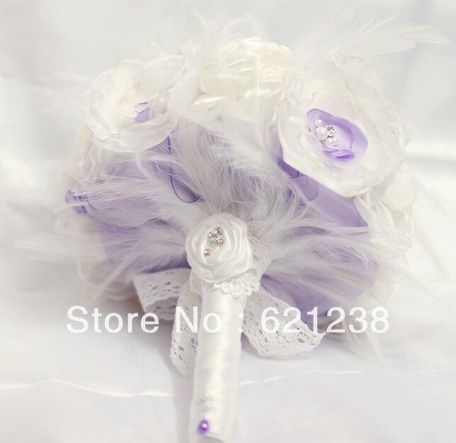 7 inch DIY organza flowers bouquet/Elegant bridal bouquet / brooch ...