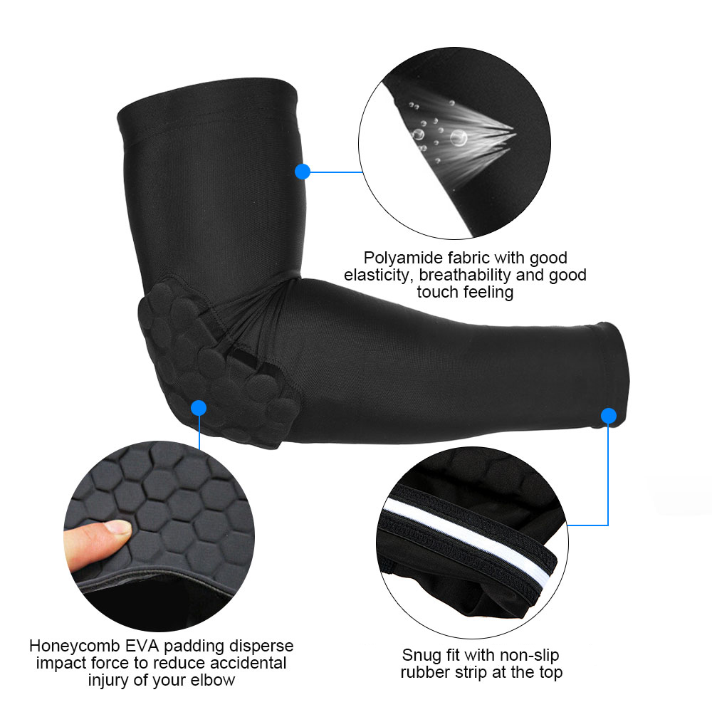 9a6392c322 Lixada 2PCS Arm Sleeve Pad Protective Sleeve Pad Basketball Elbow Support  Guard Protector Sports Compression Cellular-in Elbow & Knee Pads from Sports  ...