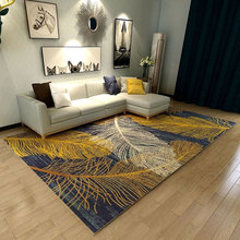LIU Modern abstract creative sofa tea table carpet Nordic living room rug bedroom bedside children home fashion pad