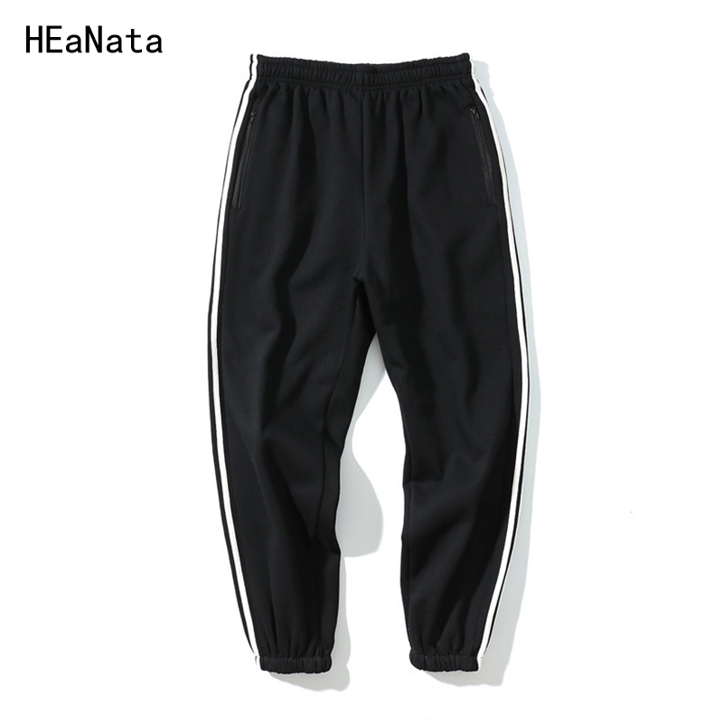2018 Brand Striped Tracksuit Fitness Trousers Men Harem jogger Skinny Casual Track Pants Hip Hop Sweatpant mens Joggers US  Size