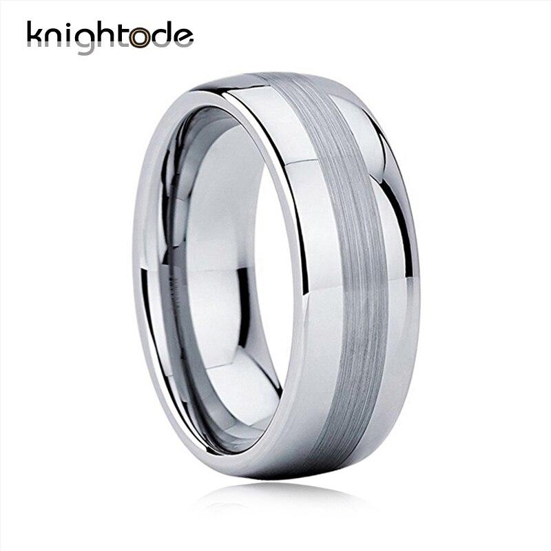 Hochzeits- & Verlobungs-schmuck ZuverläSsig Herr Der Ring Wolfram Hartmetall Ringe Für Männer Frauen Top Schwarz Überzogene Hohe Qualität Eheringe