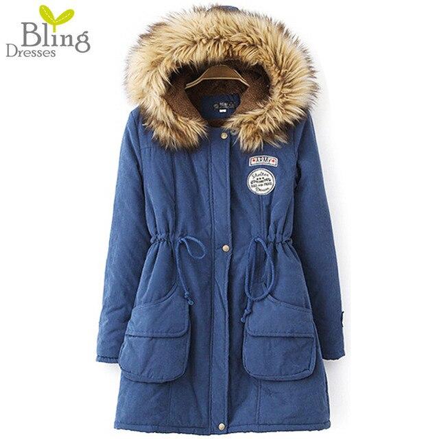 Лучшая Цена Осень Зима Пальто 2016 женская Мода Длинные Военные Пальто Зимнее Пальто Женщин Теплые Куртки