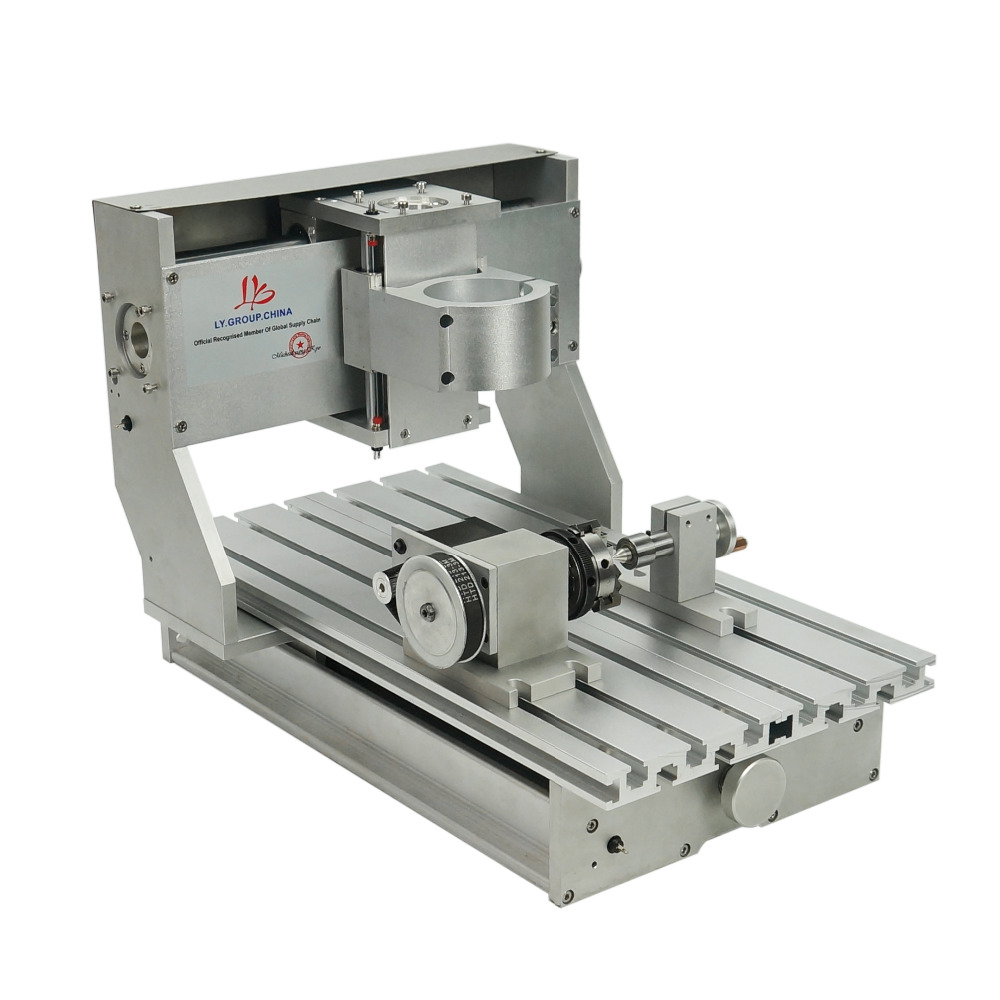 3axis 4axis 3020 CNC Milling Engraving Drilling Machine router frame without motor or with motor