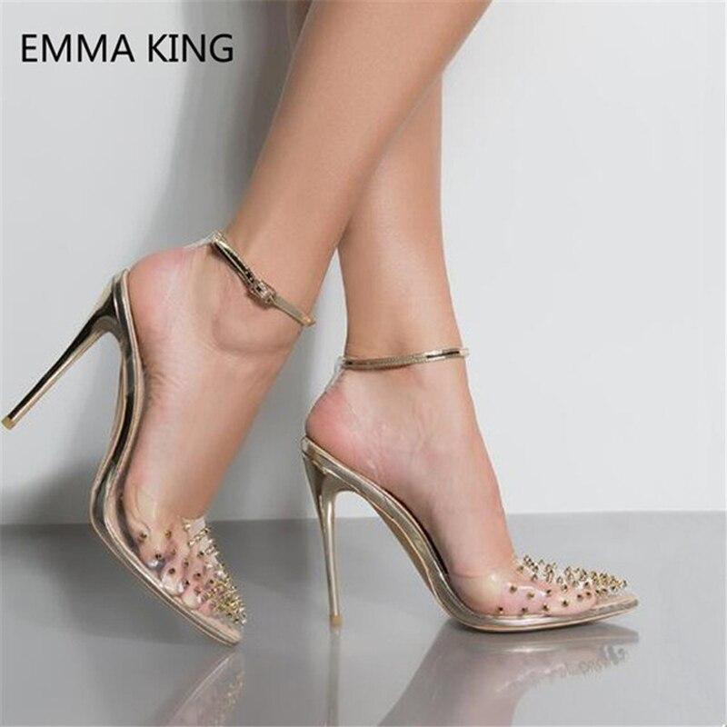 Shown As Sandale Chaussures Pompes Hauts Pointu Spartiates Pvc TlJ1KFc3