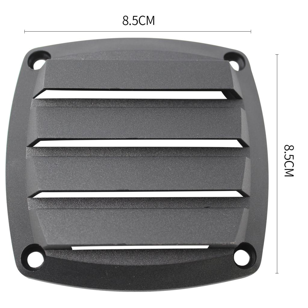 Marine Boat 4 Inch Louvered Grill Cover Plastic Air Vent Ventilation Grille 8.5cm X 8.5cm
