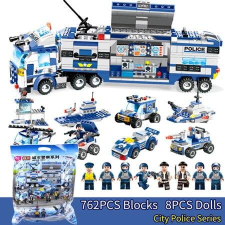 8 в 1 ударить город полицейский участок игрушки оружие блок собран building Block игрушки для детей совместимый с классическим legoed