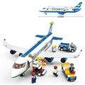 Sluban autobús avión de la aviación bloques de construcción de transporte ilumina vehículos aeronaves juguetes de los ladrillos regalo Compatible con Lego