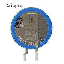 2 ピース/ロット ML1220 1220 3V 18 2600mah ボタン充電式リチウム電池リチウムイオン電池脚足足