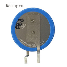 2 pçs/lote ML1220 1220 mah 3V 18 Botões baterias de lítio recarregável Li ion bateria perna pé pés
