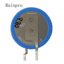 2 stks/partij ML1220 1220 3V 18mah Knoppen oplaadbare lithium batterijen Li Ion batterij been voet voeten